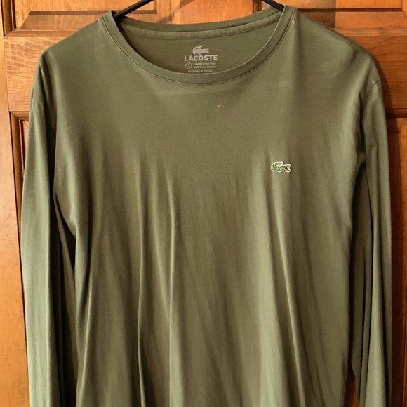 8adb7e19 Lacoste Long Sleeve T-Shirt - Olive Green